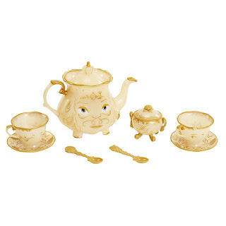Beauty and the Beast tea set can be used as a centerpiece for your child's party.