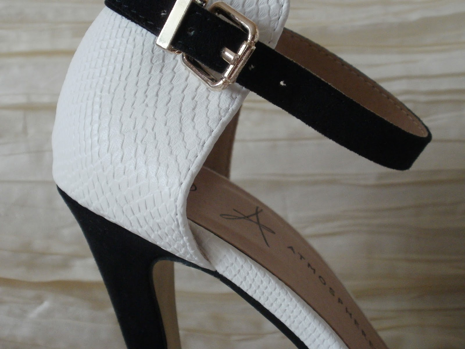 42405cd500b Porcelain Eleanor: Shoes on a Shoestring #3 Monochrome Strappy Heels