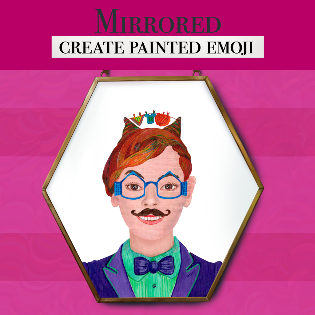 Mirrored: Create painted emoji