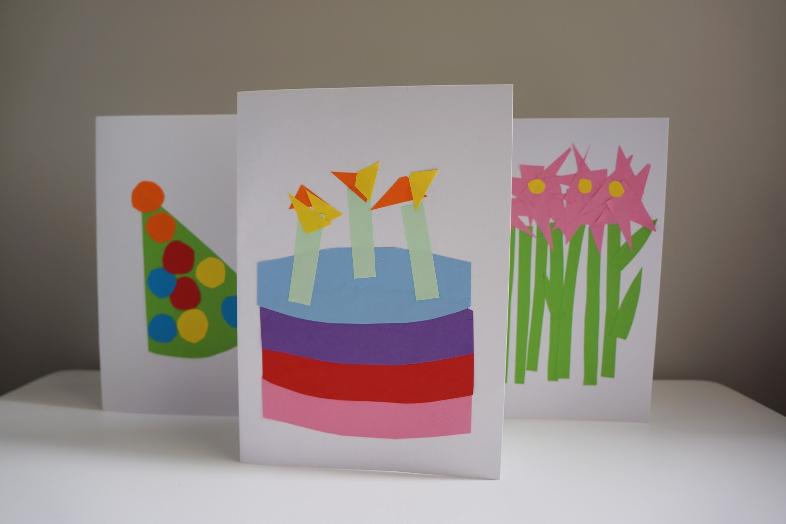 birthday cake card design for toddler crafts