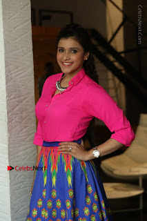 Actress Mannar Chopra in Pink Top and Blue Skirt at Rogue movie Interview  0001.JPG