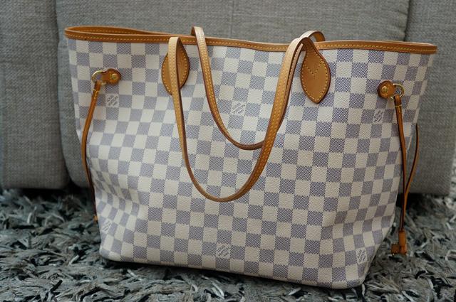 Myydään Louis Vuitton Käsilaukku : Anne jennika myyd??n louis vuitton neverfull mm damier azur