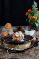Boniatos asado con crème fraîche