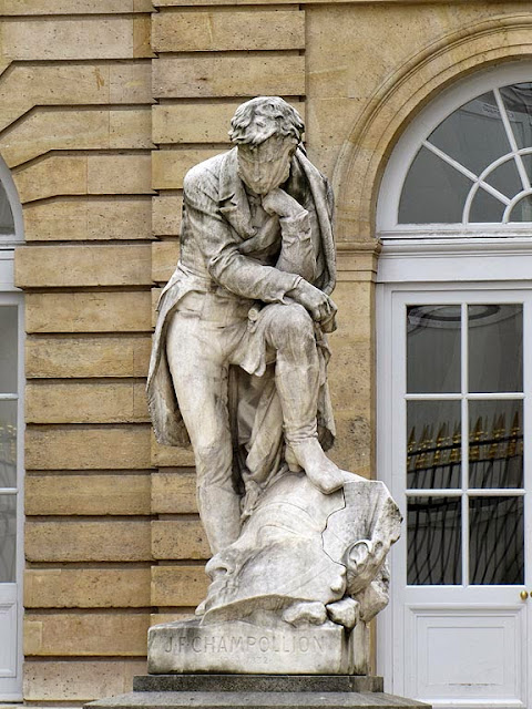 Statue of Jean-François Champollion by Frédéric Auguste Bartholdi,