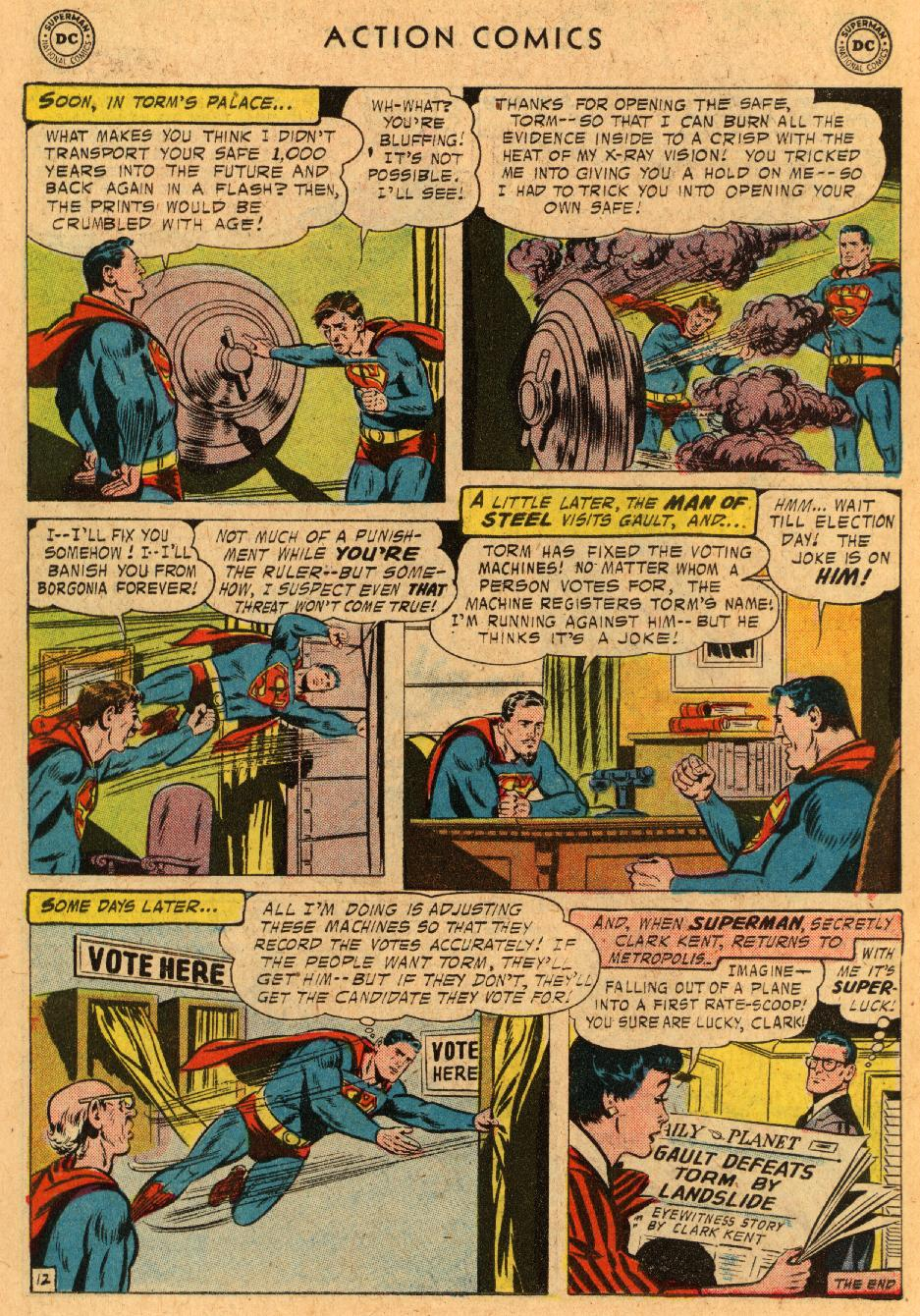 Read online Action Comics (1938) comic -  Issue #233 - 14