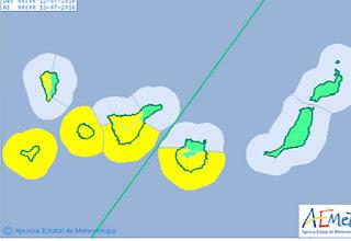 El martes  12 y y el miércoles 13 de julio las islas occidentales y Gran Canaria en aviso amarillo por viento y oleaje