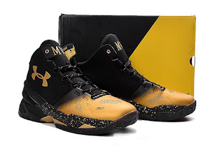 Under Armour Curry 2 MVP Black Gold Sepatu Basket Premium, harga UA curry 2 Mvp black gold , under armour curry 2 mvp hitam emas , replika, premium , import