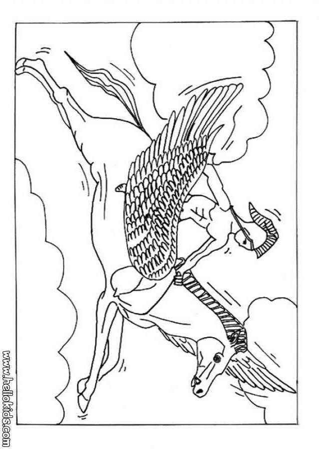 Desenhos Do Cavalo Alado Para Colorir