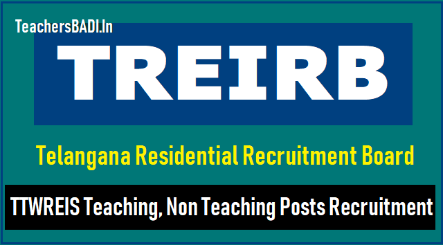 treirb to fill 400 jl,librarian,pgt,tgt,pd posts in ttwreis through direct recruitment 2018,telangana residential recruitment board to fill the junior lecturer,librarian,pgt,tgt,pd posts in #ttwreis instituitions through direct recruitment