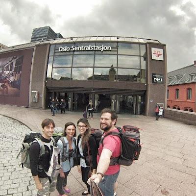 Viagem de trem de Oslo para Bergen