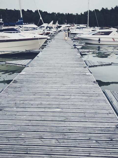 Kaarinan venesatamassa