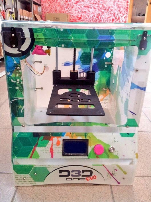 DIY 3D Printing: D3D ONE-EVO high speed 3d printer made by Italian engineering and Danish electronics