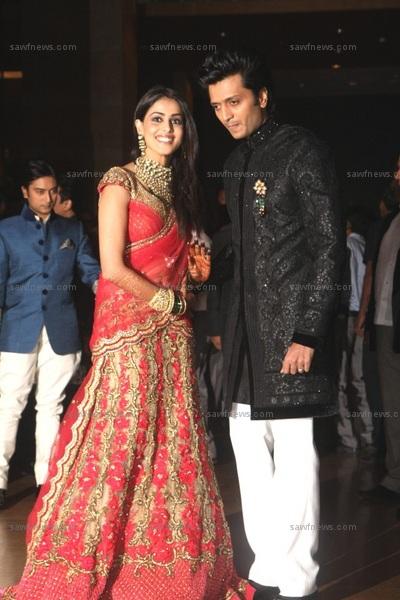 Genelia Marriage Reception Photos WEDDING CLOUDS: Ritesh...