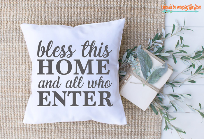 Home Blessing Pillow
