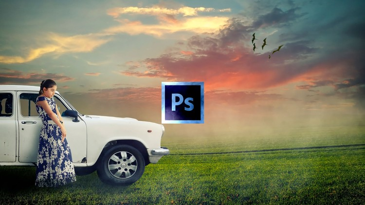 Learn Digital Art Photo Manipulation in Photoshop-Alone Girl - Udemy coupon