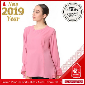 RMY012J50 Jeje Hijab Atasan Blouse Keren Lengan Panjang BMGShop