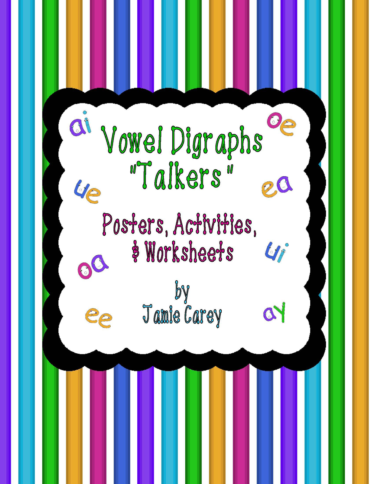 Busy Mama Amp Her Boys Vowel Digraphs Talkers Activities Packet