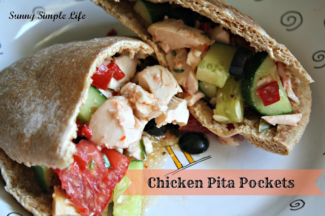 pita pockets, roasted chicken pita pockets