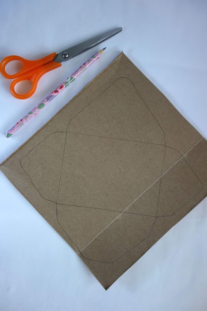 DIY envelopes, handmade stationery, uses for old boxes