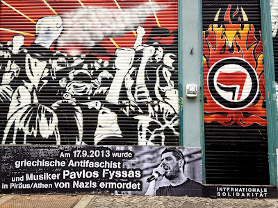 photo of antifascist mural
