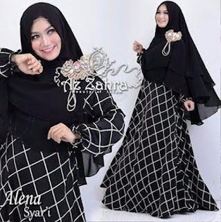 Model Busana Muslim Style Motif Monochrome