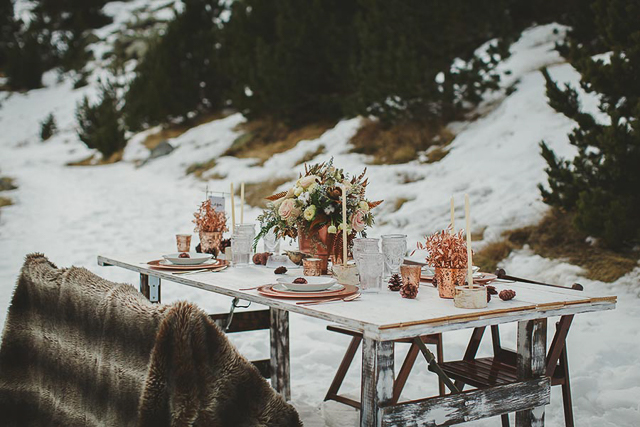 immacle boho wedding wintern invierno boda pirineo nieve