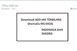 Download Add-ins Terbilang Otomatis microsoft excel Bahasa Inggris dan Indonesia