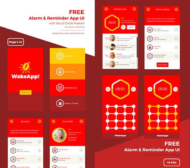 Alarm & Reminder Mobile App UI