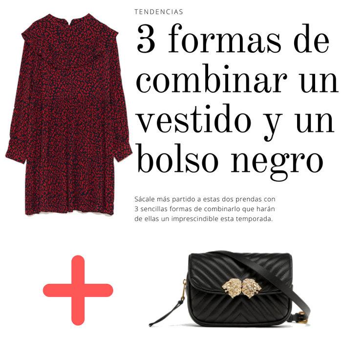 3 formas de combinar un vestido y un bolso negro para sacarles más partido