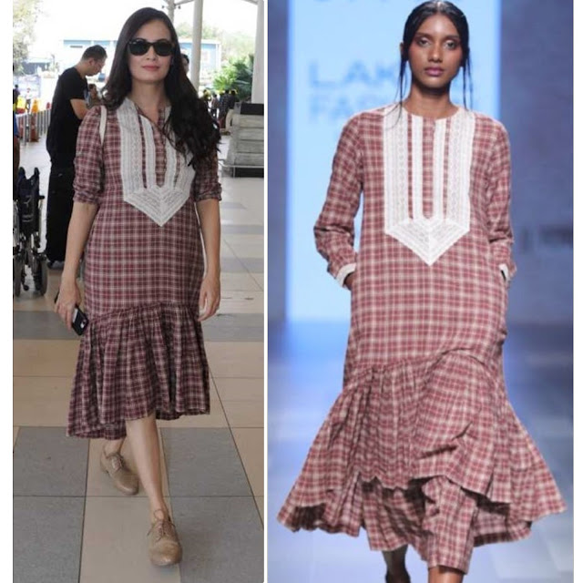 Dia Mirza in Divya Sheth at the airport