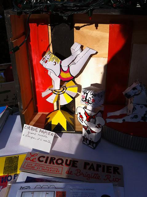 Brigitte Rio, cirque, papier, jeux d'artiste, artist game, sérigraphie, print, printmaking