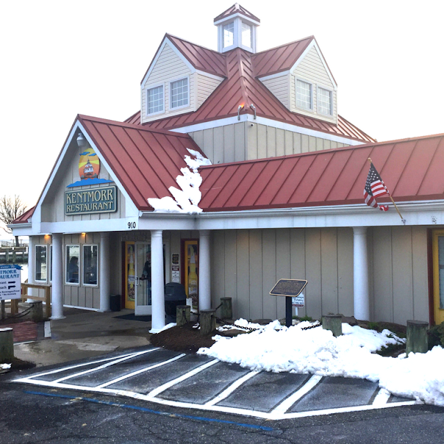 Historic Kentmorr Restaurant with a little snow
