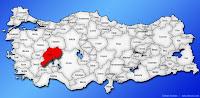Afyonkarahisar ilinin Türkiye haritasında gösterimi