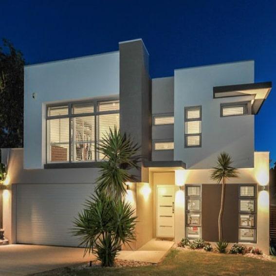 Casa con acabados sencillos y modernos.
