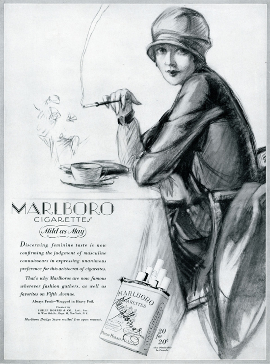 Marlboro ad 1927 - A