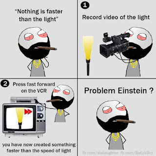 Funny pics - Nothing is faster than the light