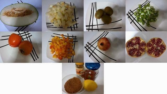 Receita de salada de fruta com romã