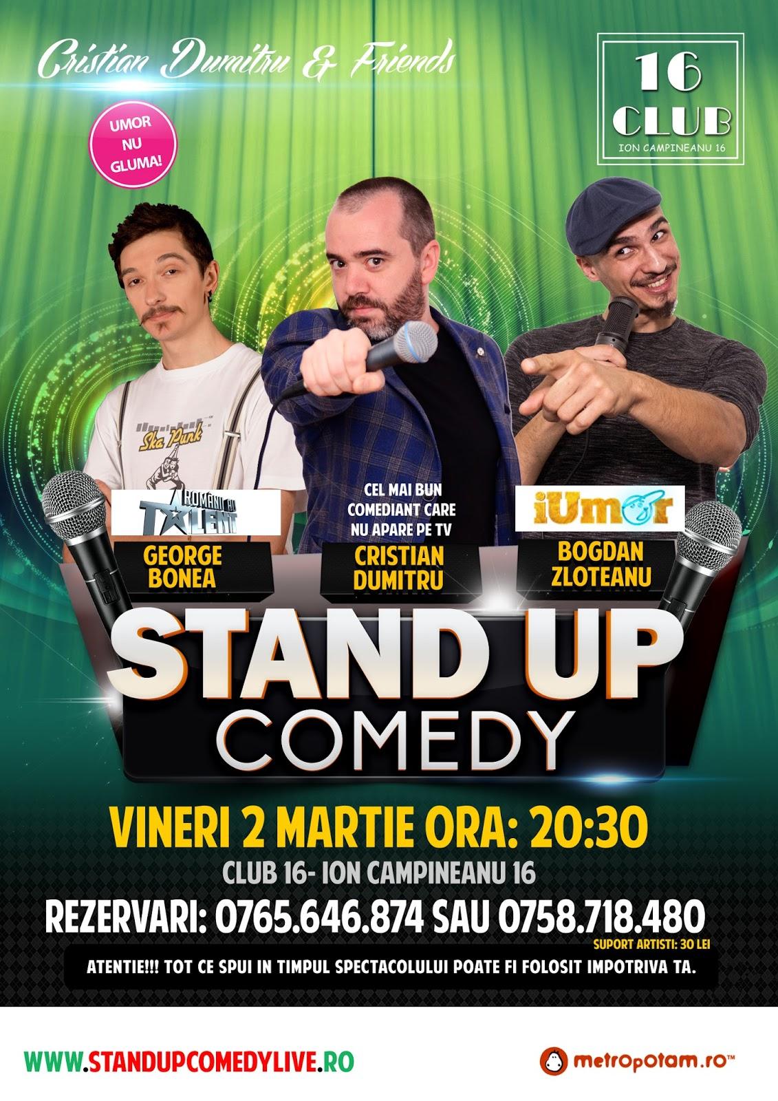 Stand-Up Comedy Vineri 2 Martie Bucuresti