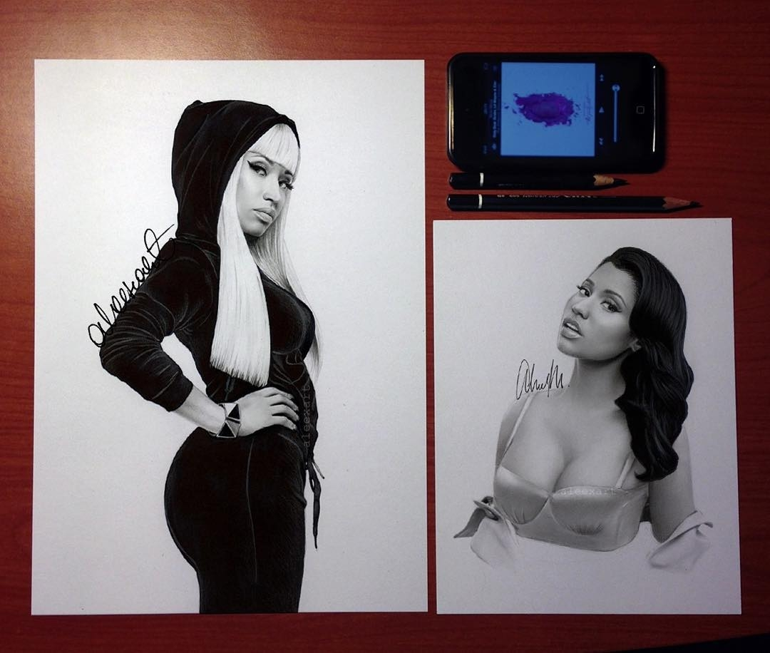 09-Nicki-Minaj-Alex-Manole-Black-and-White-Hyper-Realistic-Portraits-of-Celebrities-www-designstack-co