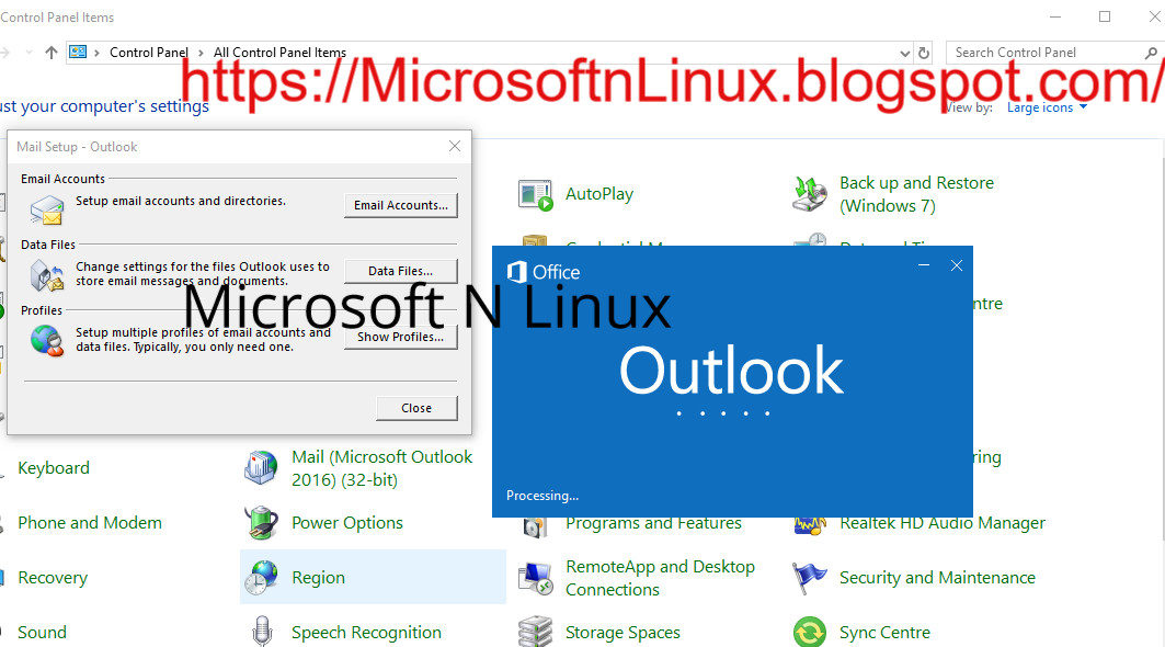 How to Add Linux Mail Server on MS (Microsoft) Outlook