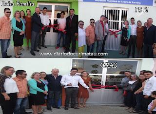 Prefeito de Baraúna inaugura três novos prédios; CRAS, Bolsa Família e UBS II
