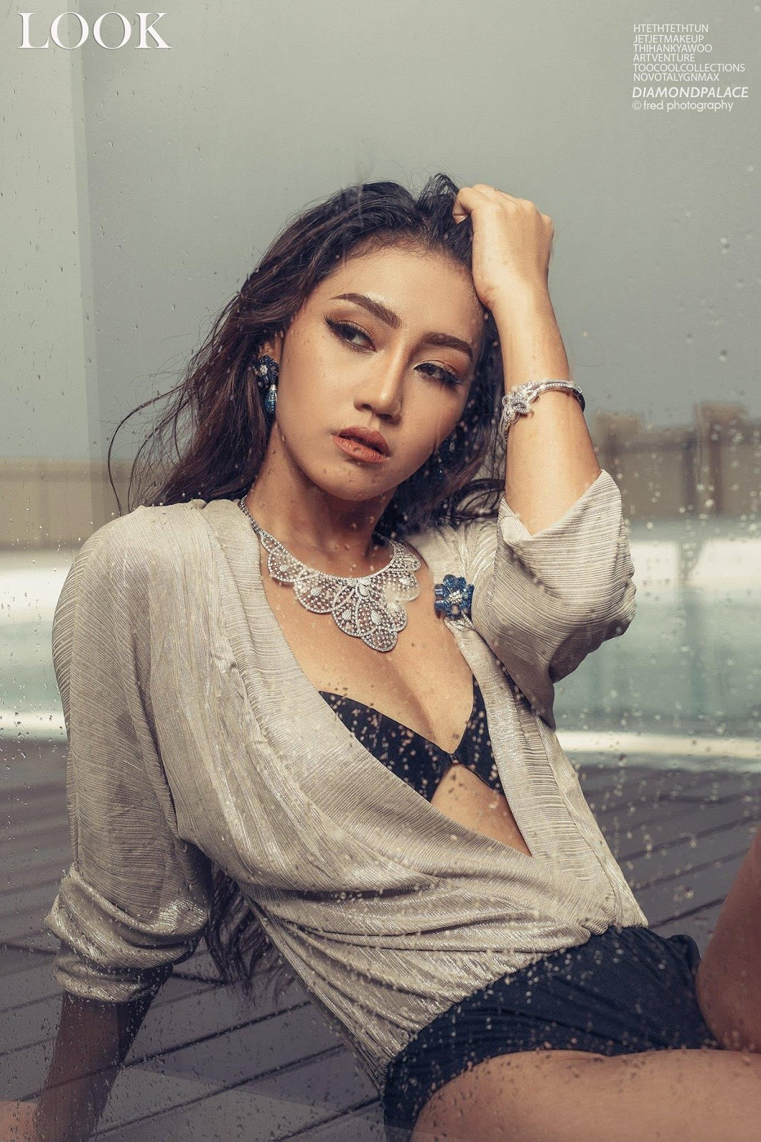 Miss Universe Myanmar Htet Htet Htun Fashion Pose In Look Magazine