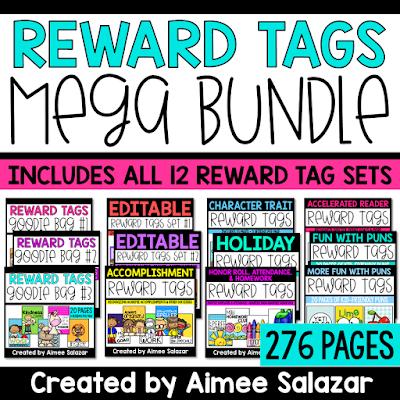 Full Color Reward Tag Printables