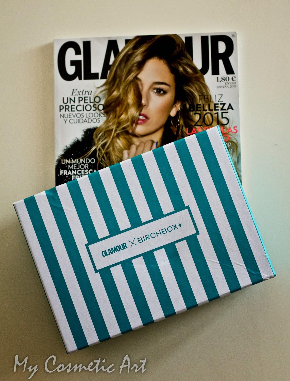New Year's Revolution! La Birchbox de Enero de 2015 viene en colaboración la revista Glamour.