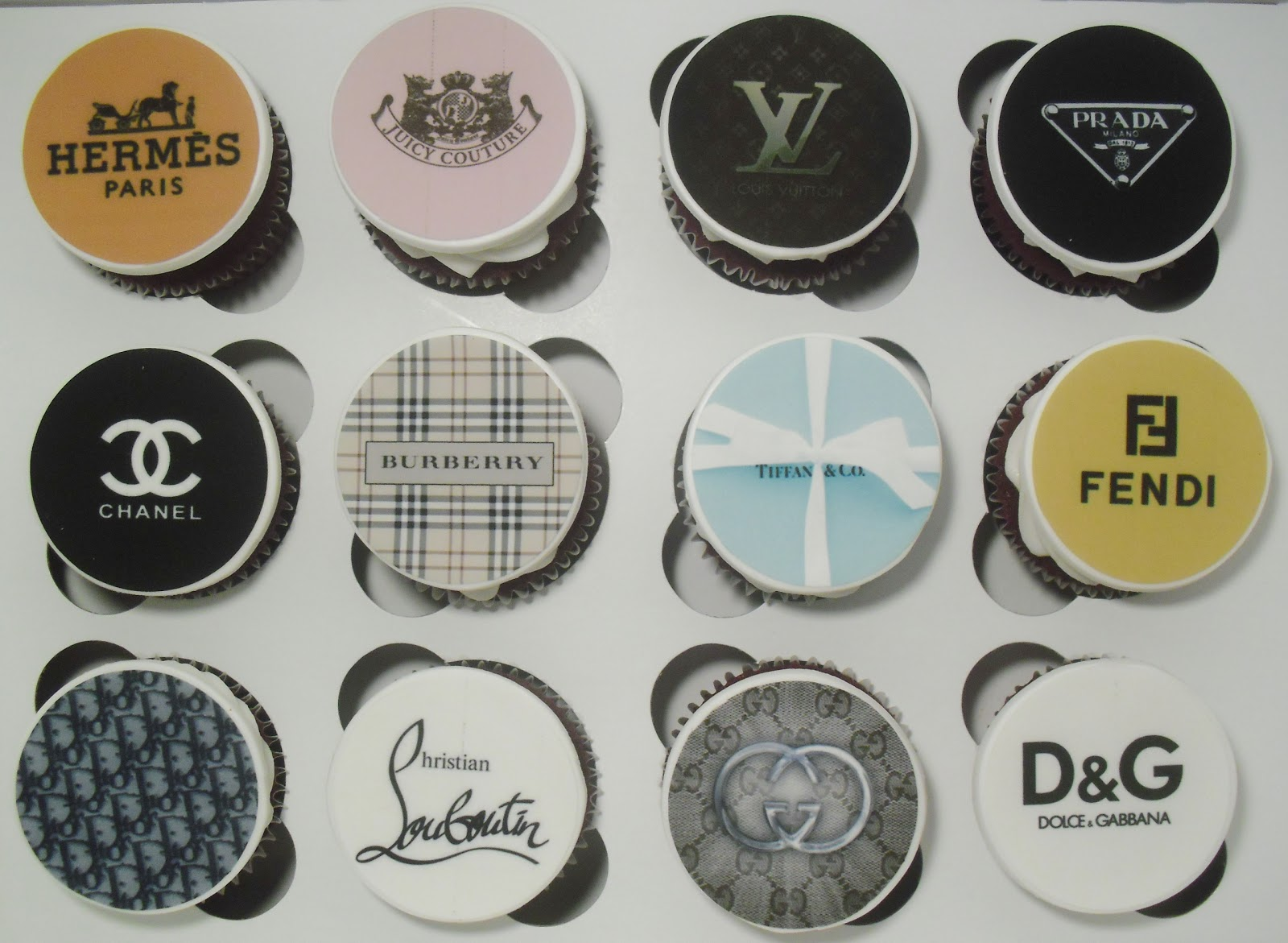 Made Fresh Daily Designer Handbags With Matching Logos Cupcakes