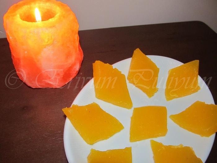 Erivum Puliyum: Fresh Orange Halwa
