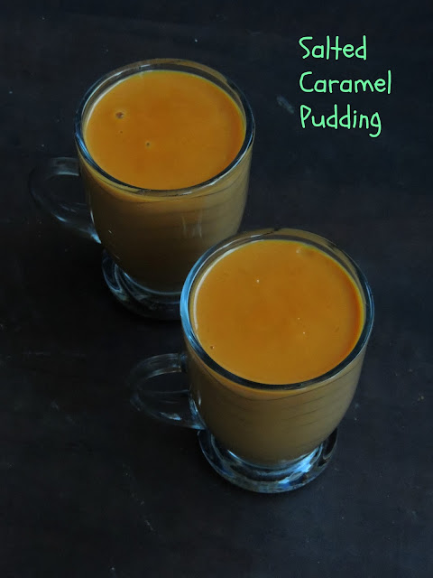 Eggless Salted caramel pudding