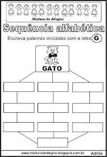 Sequência alfabética letra G