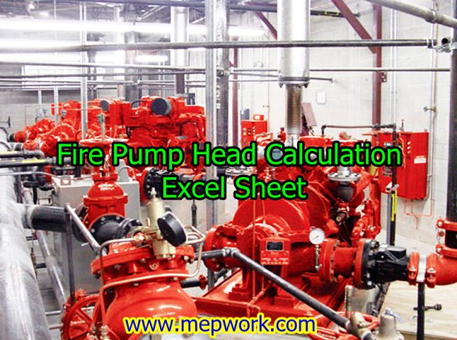 Download Fire Pump Head Calculation Excel Sheet