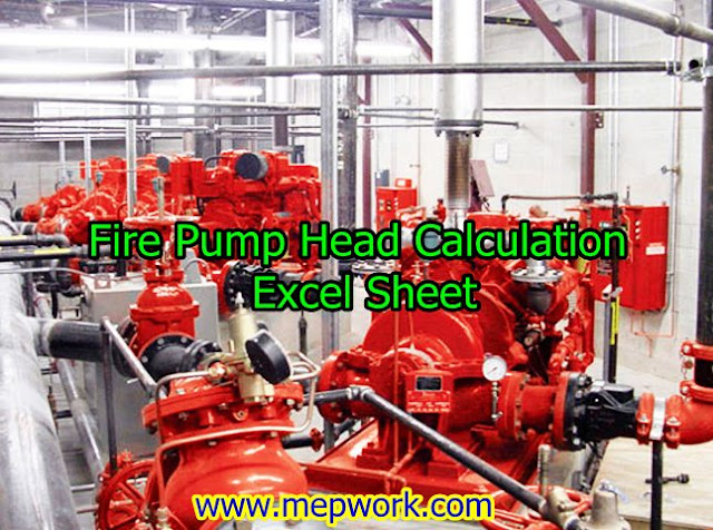 Fire Pump Head Calculation  Excel Sheet